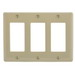 Hubbell Wiring NP263I Netselect® tradeSELECT® 3-Gang Standard-Size GFCI Decorator Face Plate; Screw Mount, Nylon, Ivory