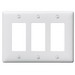 Hubbell Wiring NP263W Netselect® tradeSELECT® 3-Gang Standard-Size GFCI Decorator Face Plate; Screw Mount, Nylon, White