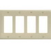 Hubbell Wiring NP264I Netselect® tradeSELECT® 4-Gang Standard-Size GFCI Decorator Face Plate; Screw Mount, Nylon, Ivory