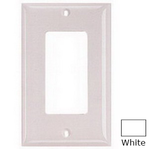 Hubbell Wiring NP264W Netselect® tradeSELECT® 4-Gang Standard-Size GFCI Decorator Face Plate; Screw Mount, Nylon, White