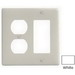 Hubbell Wiring NP826W Homeselect™ 2-Gang Standard-Size Combination Wallplate; Screw Mount, Nylon, White