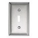 Hubbell Wiring SS1 1-Gang Standard-Size Toggle Switch Wallplate; Screw Mount, 302/304 Stainless Steel, Satin