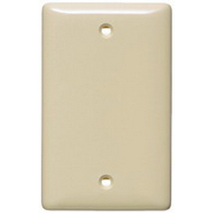 Hubbell Wiring NP13LA 1-Gang Standard-Size Blank Wallplate; Box Mount, Nylon, Light Almond