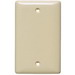 Hubbell Wiring NP13LA 1-Gang Standard-Size Blank Wallplate; Box Mount, Nylon, Light Almond