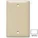 Hubbell Wiring NP13W 1-Gang Standard-Size Blank Wallplate; Box Mount, Nylon, White