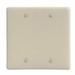 Hubbell Wiring NP23I 2-Gang Standard-Size Wallplate; Box Mount, Nylon, Ivory