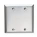 Hubbell Wiring SS23 2-Gang Standard-Size Blank Wallplate; Box Mount, 304/302 Stainless Steel, Silver