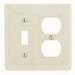 Hubbell Wiring NP18LA Homeselect™ 2-Gang Standard-Size Combination Wallplate; Screw Mount, Nylon, Light Almond