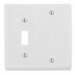 Hubbell Wiring NP113W Homeselect™ 2-Gang Standard-Size Combination Wallplate; Box Mount, Nylon, White