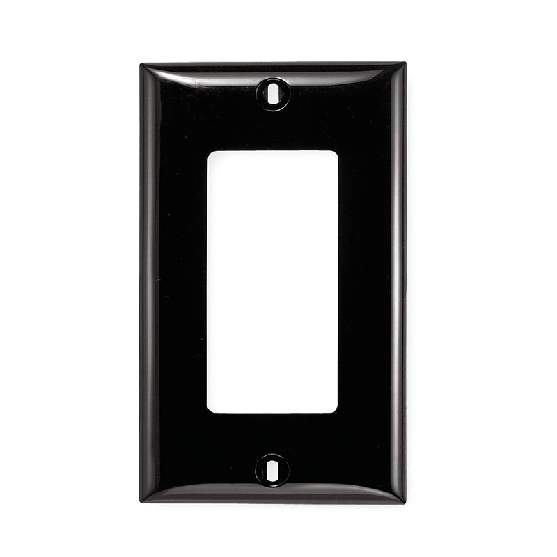Hubbell Wiring NP26BK Netselect® tradeSELECT® 1-Gang Standard-Size GFCI Decorator Face Plate; Screw Mount, Nylon, Black