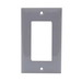 Hubbell Wiring NP26GY Netselect® tradeSELECT® 1-Gang Standard-Size GFCI Decorator Face Plate; Screw Mount, Nylon, Gray