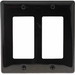 Hubbell Wiring NP262BK Netselect® tradeSELECT® 2-Gang Standard-Size GFCI Decorator Face Plate; Screw Mount, Nylon, Black