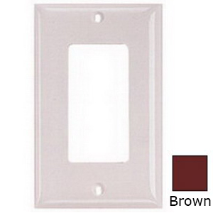 Hubbell Wiring NP26 Netselect® tradeSELECT® 1-Gang Standard-Size GFCI Decorator Face Plate; Screw Mount, Nylon, Brown