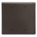 Hubbell Wiring NP23 2-Gang Standard-Size Wallplate; Box Mount, Nylon, Brown