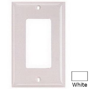 Hubbell Wiring NPJ26W Homeselect™ 1-Gang Midway-Size Decorator Wallplate; Screw Mount, Nylon, White