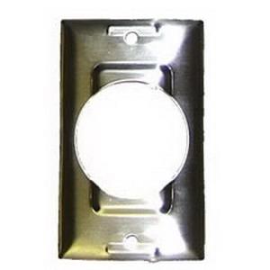 Hubbell Wiring SS750 1-Gang Standard-Size TwistLock Wallplate; Screw Mount, Stainless Steel, Silver