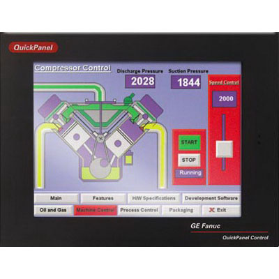 GE Fanuc IC754VBF12CTD QuickPanel Operator Interface; 12.100 Inch Display, 12/24 Volt DC