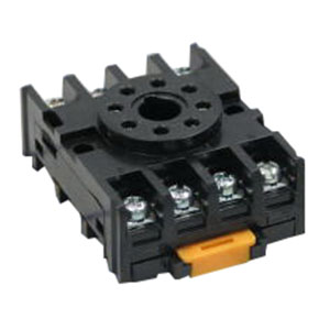 ABB NDS-8 Relay Socket; 300 Volt AC, 10 Amp, 8 Pin, (2) #6 (M3.5 x 0.6) Screw/Snaps-Onto a 35 mm DIN-Rail Mount