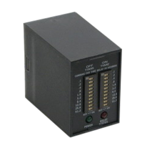ABB TDR4A11 Digi-Set Time Delay Relay; 120 Volt AC, 8 Pin, DPDT, ON Time: 0.1 - 102.3 sec in 0.1 sec Increments, OFF Time: 0.1 - 102.3 sec in 0.1 sec Increments Timing Range