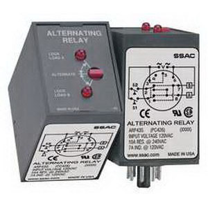 ABB ARP43S Alternating Relay; 120 Volt AC Coil, 8 Pin, DPDT