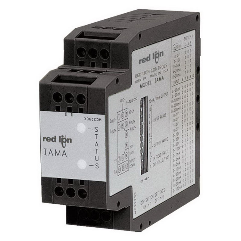 Red Lion IAMA3535 IAMA Model Linear Universal Signal Conditioner; 0 - 20 Milli-Amp, 0 - 10 Volt DC, 0.1% Accuracy, Screwed Connection