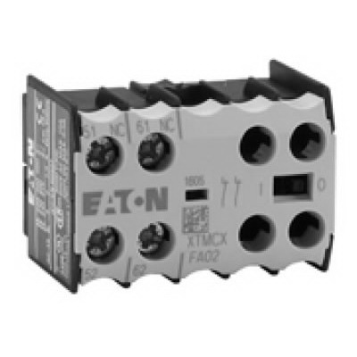 Eaton / Cutler Hammer XTMCXFA22 Auxiliary Contact; 10 Amp, 2 NO-2 NC, Front Mount, For XTRM Mini Control Relays and Contactors