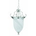 Thomas Lighting M298278 4-Light Ceiling Mount Essentials Incandescent Chandelier; 60 Watt, Brushed Nickel