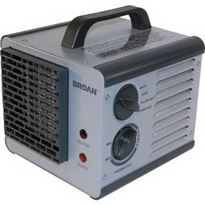 Broan Nu-Tone 6201 Big Heat Efficient Two-Level Fan-Forced Portable Heater; 120 Volt, 10/12.5 Amp, 1 Phase, 1.5/1.2 kilowatt, 60 Hz, Aluminum, Steel Housing, Gray