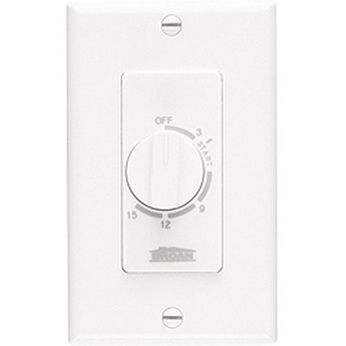 Broan Nu-Tone 61W 15 Minute Timer Control Switch For Kitchen Ventilation Accessories  120/240 Volt  20 Amp At 120 Volt  20 Amp At 240 Volt  White