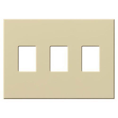 Lutron VWP-3-IV Vareo/Nova Tb Decorator Wallplate Wall Mount  Plastic  Ivory