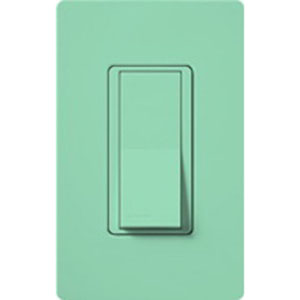 """""Lutron SC-3PS-SG Claro Diva General Purpose Switch Sea Glass, 120/277 Volt AC, 15 Amp,"""""" 117335"