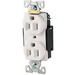 Cooper Wiring 5252W ArrowHart™ Straight Blade Duplex Receptacle; 125 Volt, 15 Amp, 2 Pole, 3 Wire, Wall Mount, White