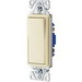Cooper Wiring 7503LA Decorator Standard Grade Switch; 1 Pole, 120/277 Volt AC, 15 Amp, Light Almond