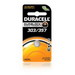 Duracell DL303/357PK08 Electronic Button Cell Battery; 1.5 Volt, 190 Milli-Amp-Hour, Flat Terminal