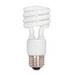 Satco S7222 Compact Fluorescent Lamp; 15 Watt, 120 Volt, 4100K, 82 CRI, Medium (E26) Base, 10000 Hour Life