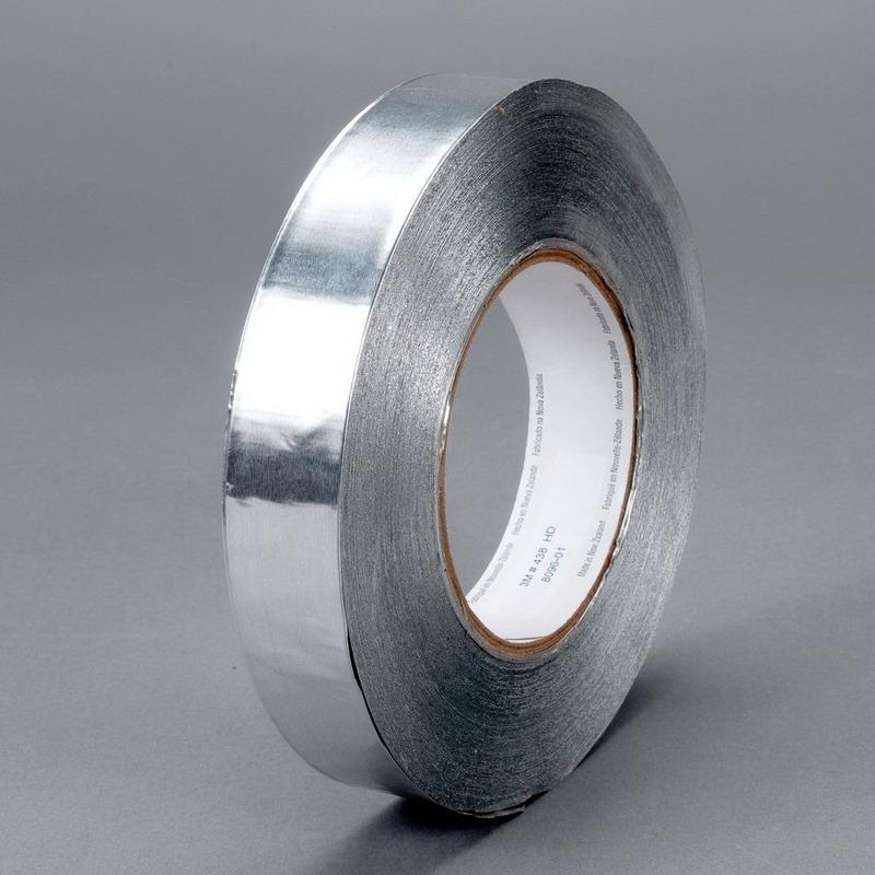 3M 438-SILVER-2X60YD 438 Model Heavy Duty Foil Tape; 60 yard x 2 Inch, Aluminum Foil/Acrylic Adhesive, Silver
