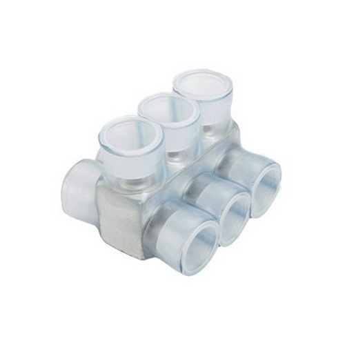 Panduit PCSB250-8-3Y PVC Insulated Double-Sided Multi-Tap connector; 8-Port, 250 KCMIL - 10 AWG Stranded