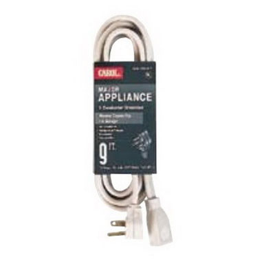Carol 00762.63.17 Grounded SPT-3 Major Appliance Cord; 20 Amp, 250 Volt, NEMA 6-20P x NEMA 6-20R, 12/3 AWG Stranded, 9 ft, Beige