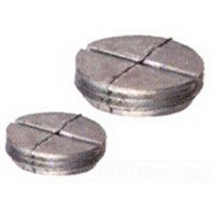 BWF/Teddico PL-5 Closure Plug; 1/2 Inch, Metal, Powder-Coated