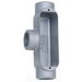 BWF/Teddico 705V Type T Conduit Body; 2 Inch, Aluminum, Gray