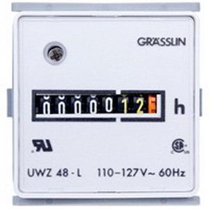 Intermatic UWZ48E-220/50U AC Hour Meter; 99999.99 Hour, 220 Volt AC, 24 Volt DC