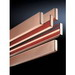 Rittal 3582000-X Busbar; 230 Amp, 600 Volt, Copper, Tin-Plated, 2400 mm Length x 20 mm Width x 5 mm Thick