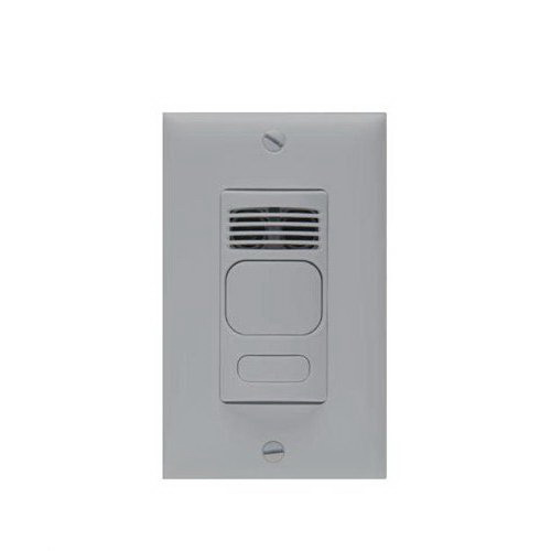 Hubbell Automation LHMTS1G LightHawk™ Wall Switch Sensor With IntelliDAPT and Automatic/Manual Control; 120/277 Volt AC, 1000 Sq ft, Gray, 1-Gang Switch Box Mount
