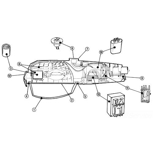 GE Lighting M2AR15S0H Ballast Replacement kit; 120/208/240/277 Volt, 150 Watt