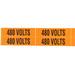 NSI VM-B-35 Pressure-Sensitive Voltage Marker; 120 Volt to 208 Volt Legend, Vinyl, Black On Orange Background