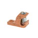 NSI GLC-4 DB Grounding Lay-In Lug; 1-Hole, 4-14 AWG 0.218 Inch Bolt