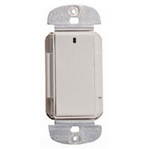 Watt Stopper DRD3-A-V2 Wireless Miro RF Decorator Switch; 1 Pole, 120/277 Volt AC, 15 Amp, Light Almond