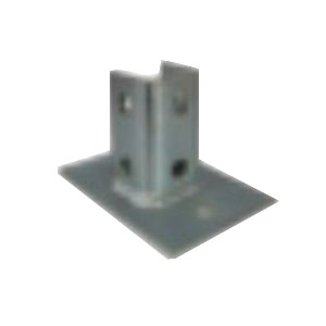 L.H. Dottie SPB890 Single Channel Post Base; Cold Formed Steel, Electro-Galvanized, (8) Hole