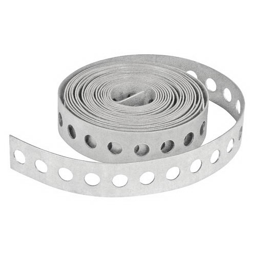 L.H. Dottie PT26 Plumper's Strap Tape; 10 ft Length x 3/4 Inch Width x 26 Gauge Thickness, Steel, Galvanized