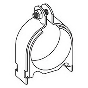 Cooper B-Line BVT075-ZN-3/4-OD VibraClamp™ Pipe Clamp; 3/4 Inch, Low Carbon Steel